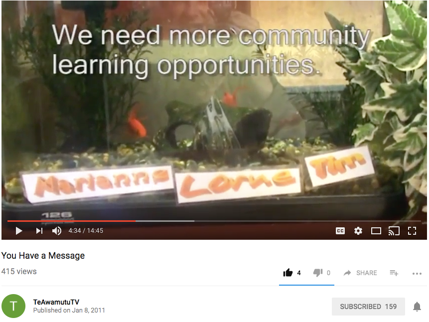 You Have a Message - students have been asking to engage with their communities for a long time